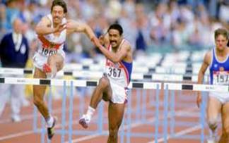 Daley Thompson y Jurgen Hingsen