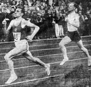 Barris winner of the 1,000 m. at Tampere, in front of the world record holder at the distance, the Swede Dan Waern