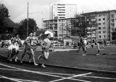 Barris, winner of the 1500 m. in the France-Switzerland-Spain meet held in Geneva in1960