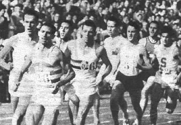 Barris leading the 1,000 m at the International Inauguration of the University of Barcelona's track