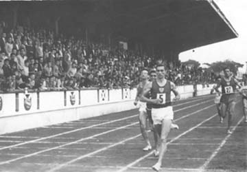 Being proclaimed champion of the 1500m. at the Spanish Championships held at the Riazor Stadium, La Coruña in 1962