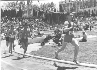 Winner of the 1500m. at the Spain-France meet held on the track of the University of Madrid in 1960